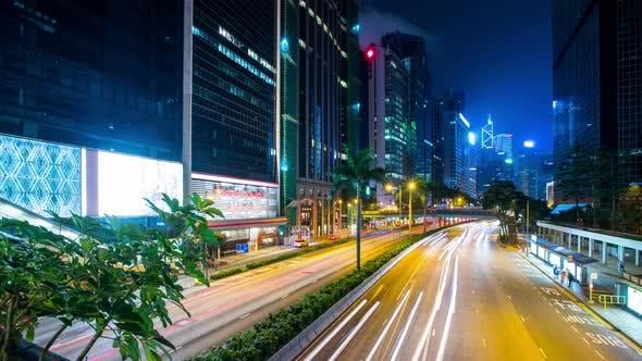 Thumbnail for Busy life in Hong Kong city at night