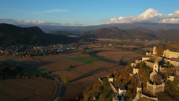 Aerial View Of Wellknown Medieval Castle Hochosterwitz 9