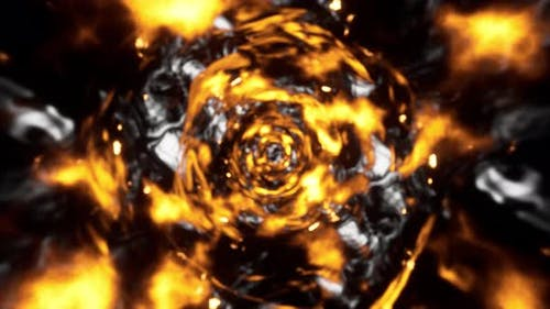 Blurred Fire Tornado Slow Motion 4K 02