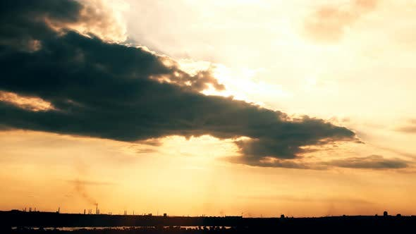 Thumbnail for 4K sky and clouds. sunset. timelapse.
