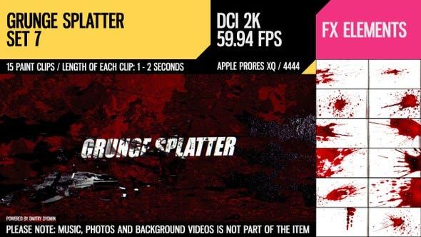 Thumbnail for Grunge Splatter (2K Set 7)