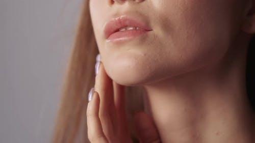 Lip Augmentation Ästhetische Kosmetologie Frau Gesicht