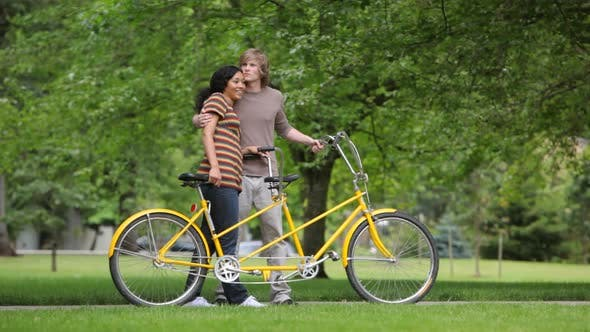 Thumbnail for Couple with tandem bicycle