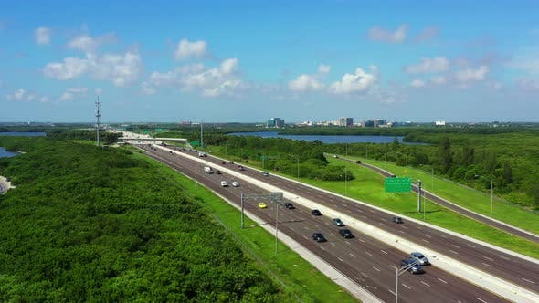Thumbnail for Aerial Video Nice Landscape On The I275 To St Petersburg Florida Usa
