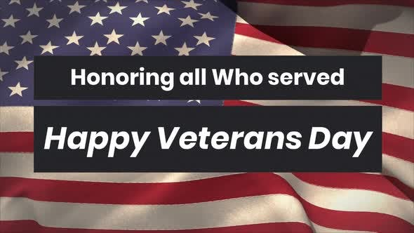 Thumbnail for Honouring All Who Served Veterans Day with American flag