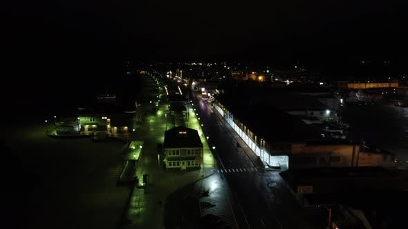 Night At Hampton Beach Nh Desolate During Covid 19 Coronavirus Pandemic
