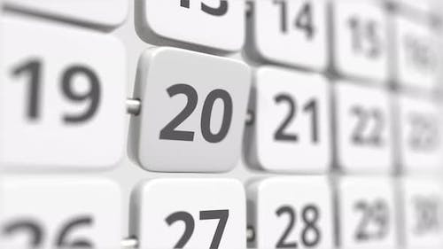 20 Date on the Turning Calendar Plate