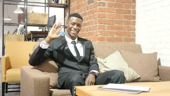 Thumbnail for Hi, Hello, Businessman Waving Hand, Welcome , Portrait
