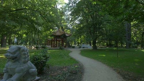 Der chinesische Garten im Lazienki Park