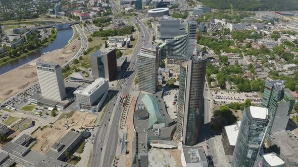 Thumbnail for Vilnius Lithuanian Capital with Modern Architecture Buildings in Finance and Business District