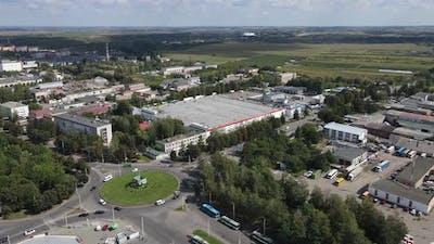 Ukraine City Rivne. Aerial Shot