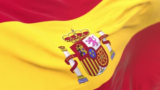 Thumbnail for Realistic Spain Flag Close Up 4K Loop