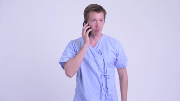 Thumbnail for Young Man Patient Talking on the Phone and Farting