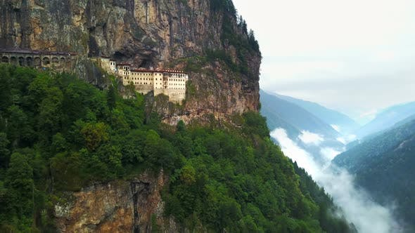 Carved Mountain Church for Orthodox Belief, Sumela Monastery, Trabzon, Turkey