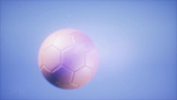 Thumbnail for Soccer Ball on Blue Sky Background