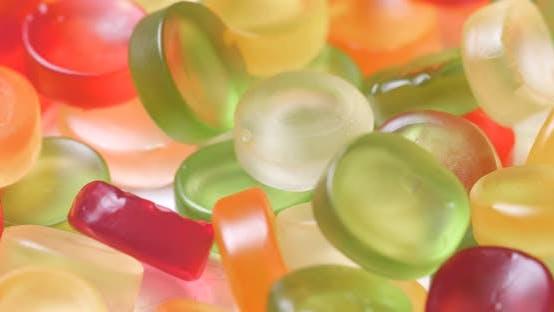 Bonbons gommeux colorés