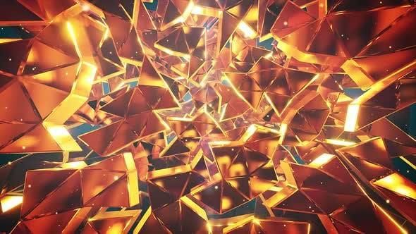 Thumbnail for Golden Debris Neutral Vj Background