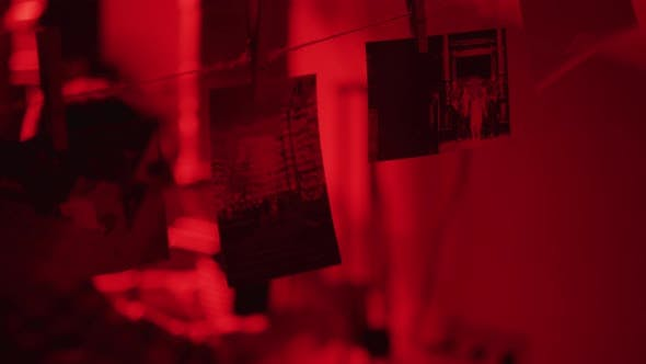 Pictures inside a darkroom