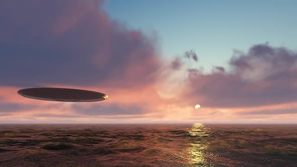 Cover Image for Ufo Above the Ocean