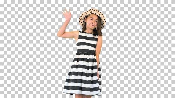 Thumbnail for Friendly cute cheerful asian school girl, Alpha Channel
