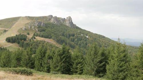 Babin Zub mountain top cliffs in Eastern Serbia 4K 2160p 30fps UltraHD footage - Beautiful nature of