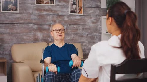 Senior Man Physiotherapy