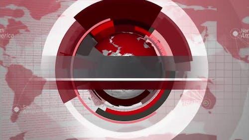Digital World Map News Intro Background 8