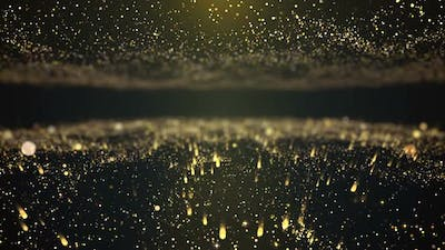 Particle Light Flowing Background