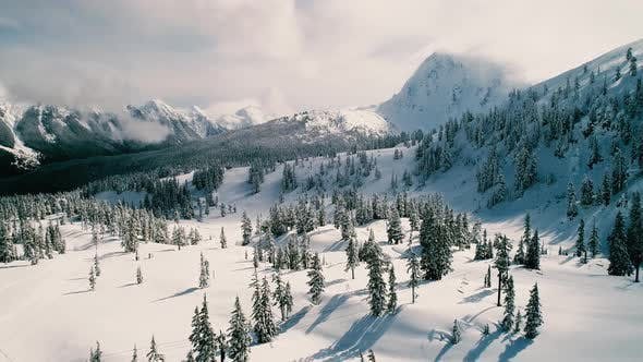 Thumbnail for Mt Baker Winter Aerial View