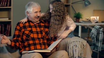 Surprising a Grandpa