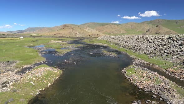 A Natural Stream in the Central Asian Geography
