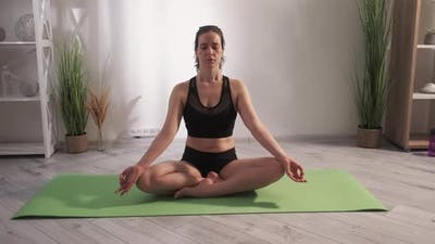 Mindfulness Meditation Yoga Practice Woman Lotus