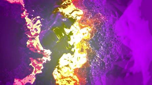 Boucle d'arrière-plan abstrait violet