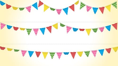 Bunting Festival Flags Pack - V2 Pattern Version