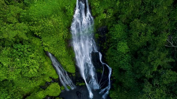 Thumbnail for Waterfall Cascade in Tropical Rainforest