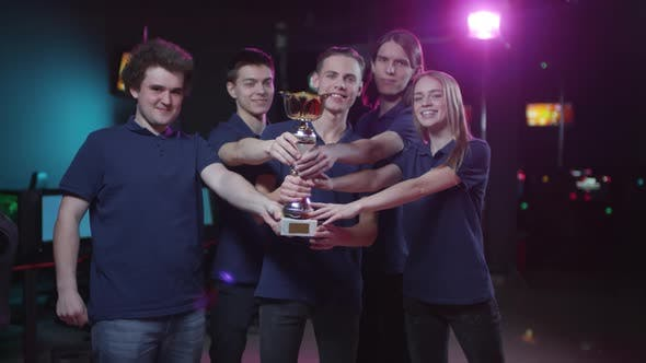 Cybersport Team With Prize