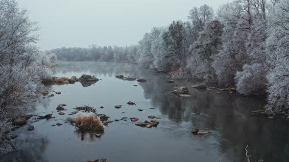 Thumbnail for Beautiful River in Winter Season