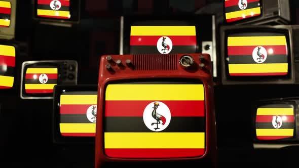 The Uganda Flag and Retro TVs.