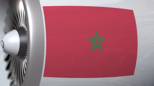 Thumbnail for Airplane Engine with Flag of Morocco