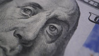 Extreme Close-up Portrait of President Franklin