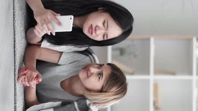 Phone Browsing Millennials Generation Modern Girls