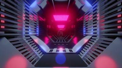 A Astronaut in a futuristic Tunnel