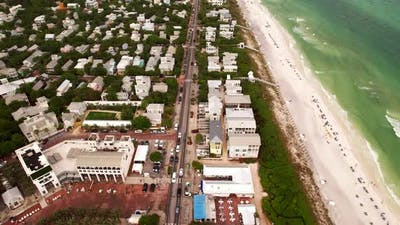 Drone Video Seaside Florida Usa