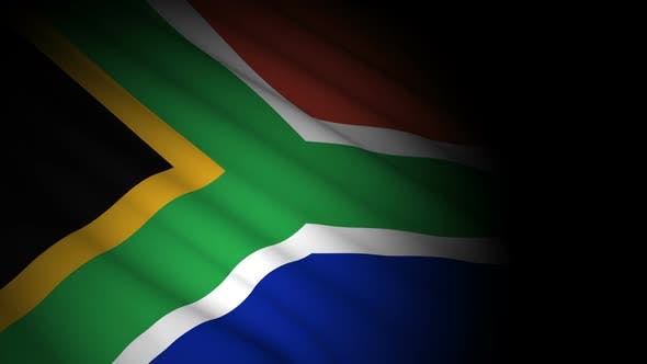 Thumbnail for South Africa Flag Blowing in Wind