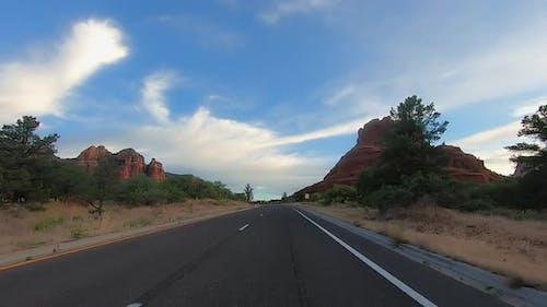 Highway 89A Driving Video in Village of Oak Creek Approaching Bell Rock