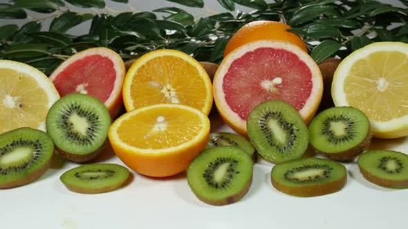 Thumbnail for Beautiful Colorful And Juicy Citrus Fruits On The Table