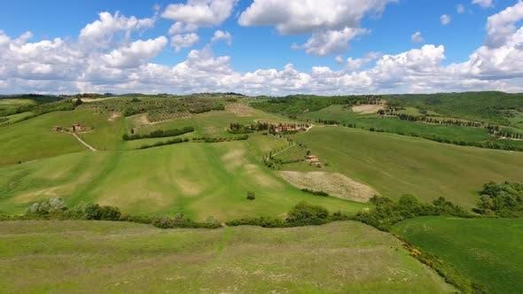 Thumbnail for Tuscany Aerial Farmland Hill Country, Italy