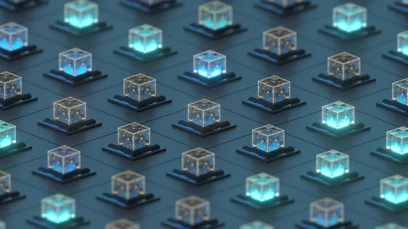 Creative electronics crystals cubes