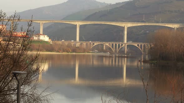 Thumbnail for Bridges Crossing Douro River in Portugal