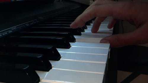 Playing Music Instrument Piano